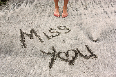 Miss You Written in the Sand - p1262m1108902 by Maryanne Gobble