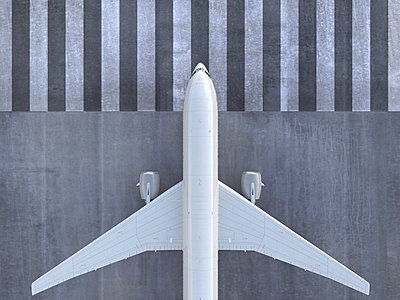 Airplane viewed from directly above - p555m1304589 by Colin Anderson