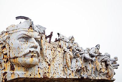 Zerstörtes Denkmal am Saur-Mogila - p1319m1196325 von Christian A. Werner