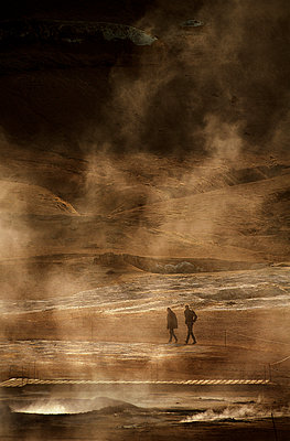 The Namafjall hot springs, Iceland - p1028m1496446 by Jean Marmeisse