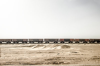 Goods wagons in Egypt desert - p1353m1201754 by Federico Naef