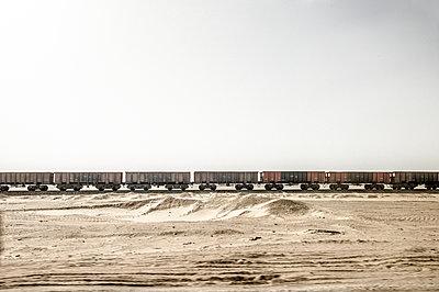 Güterwaggons in der ägyptischen Wüste - p1353m1201754 von Federico Naef