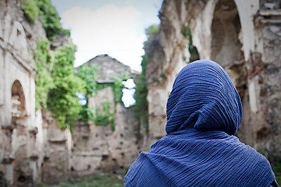 Ruins of San Francescu d'Orezza convent 2 - p1513m2043976 by ESTELLE FENECH