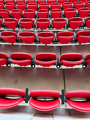 Wembley sport stadium seats, London, UK - p1048m2016469 by Mark Wagner