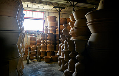 Pots and vases in warehouse of a pottery - p300m1191536 by Dirk Kittelberger