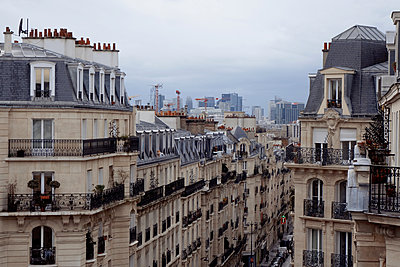 Looking out over the roofs of Paris  - p1189m1218665 by Adnan Arnaout