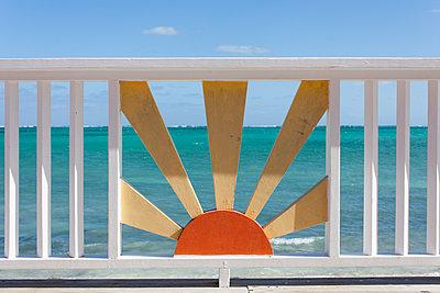 Turks and Caicos Islands pier fence - p1691m2288599 by Roberto Berdini Bokeh