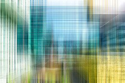 abstrakt green cubes - p587m1190453 von Spitta + Hellwig