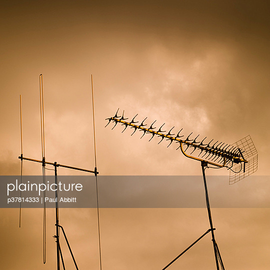 TV aerials and storm - p37814333 by Paul Abbitt