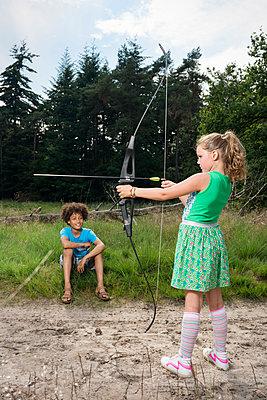 kids play in the woods - p1132m1152763 by Mischa Keijser