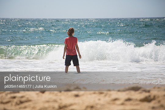 Boy in the Waves - p635m1465177 by Julia Kuskin