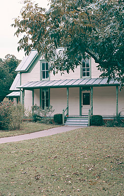 Victorian House with Porch and Front Yard - p1617m2264068 by Barb McKinney