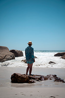 Woman at Seashore - p1248m1110746 by miguel sobreira