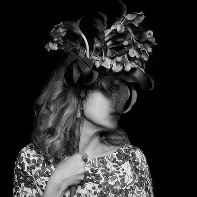 The Flower Hat - p1543m2116514 by Sophia Snadli
