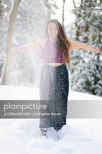 Schneegestöber  - p1295m2291801 von Katharina Bauer