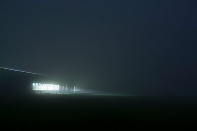 Stable at night - p1132m925497 by Mischa Keijser