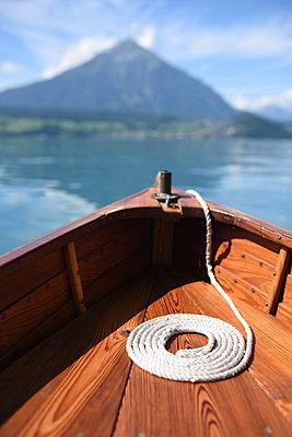 Switzerland, Boat on Lake Thun - p1354m2272154 by Kaiser