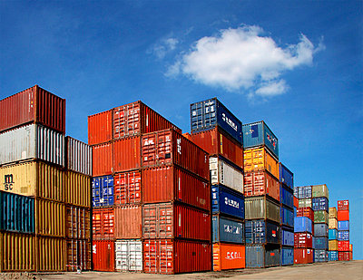 Container at a harbour - p7920029 by Nico Vincent