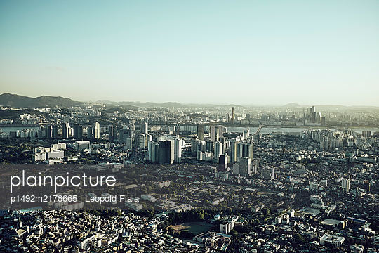 View over Seoul - p1492m2178665 by Leopold Fiala