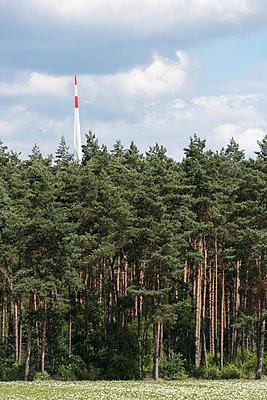 Windkraft im Wald - p1079m1553064 von Ulrich Mertens