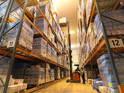 Food Being Stored In Warehouse - p4296851f by Monty Rakusen
