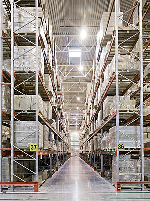 Storehouse in a factory - p3900276 by Frank Herfort