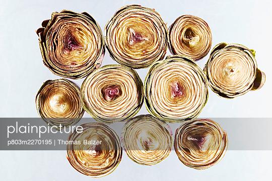 Artichokes - p803m2270195 by Thomas Balzer