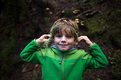 Kid in the woods - p1308m2065277 by felice douglas
