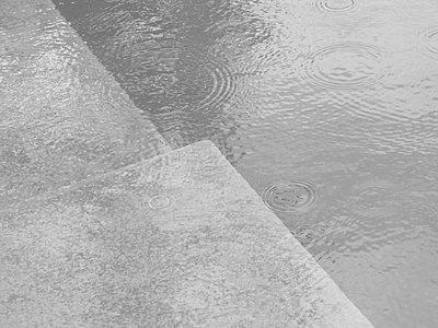 rain in swimming-pool  - p5670161 by Norma Ericsson