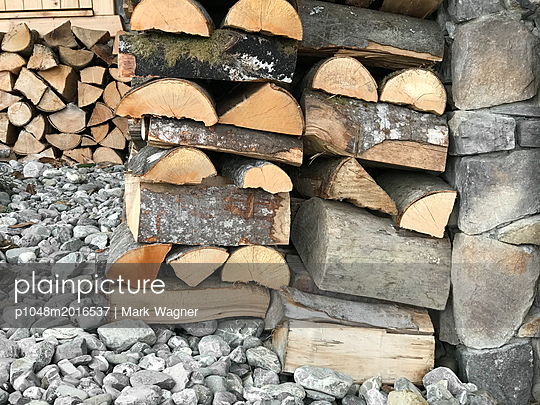 Fire wood storage - p1048m2016537 by Mark Wagner