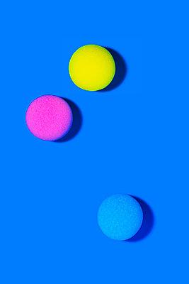 Three colored balls - p1149m2116623 by Yvonne Röder