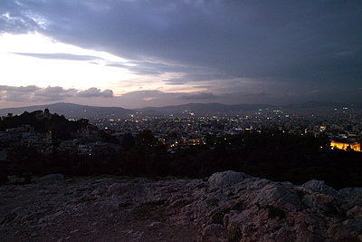 Athens in the twilight - p1301m2016048 by Delia Baum