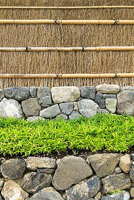 Japan, Kyoto, Arashijama, House wall - p300m965396f by Hartmut Loebermann