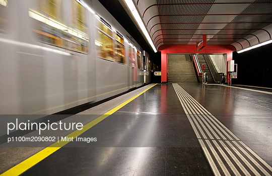 Empty Platform At Subway Station - p1100m2090802 by Mint Images