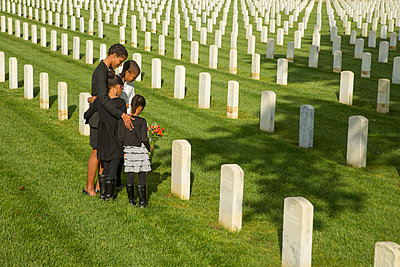Black family at military cemetery - p555m1305130 by WHL