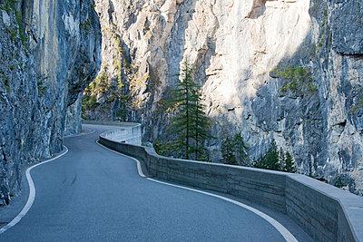 Slender street in Switzerland - p8110031 by Werner Dieterich