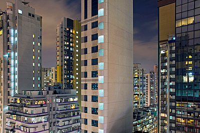 Block of flats in Hong Kong - p589m1132532 by Thierry Beauvir