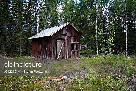 A desolated house in the forest Sweden. - p31221814f by Stefan Wettainen