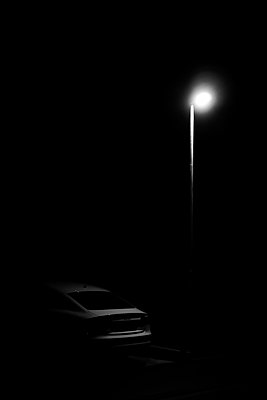 Car under stree lamp - p1578m2158498 by Marcus Hammerschmitt