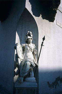 Statue of Pallas Athene, Old Town hall, Szentharomsag ter, Buda, Budapest. 1785 - p8550371 by Marcel Malherbe
