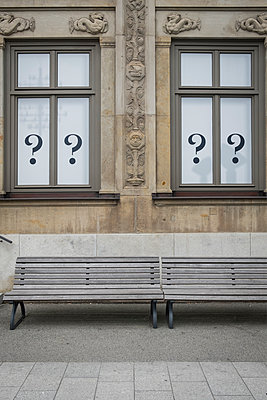 Question marks on windows - p229m2288887 by Martin Langer
