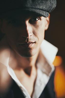 Stylish man in a cap - p1577m2150294 by zhenikeyev