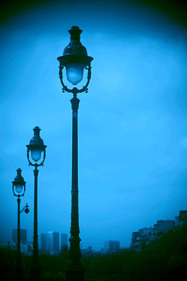 Street lamps - p567m901566 by Alexis Bastin