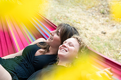 In the hammock - p1437m2107315 by Achim Bunz