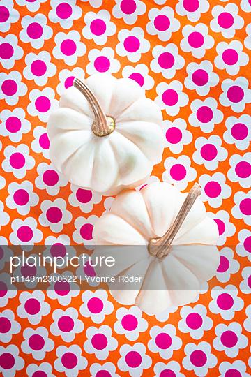 White pumpkins - p1149m2300622 by Yvonne Röder