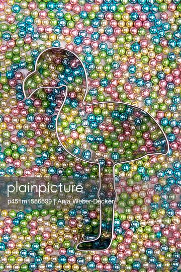 Flamingo Ausstecher - p451m1586899 von Anja Weber-Decker