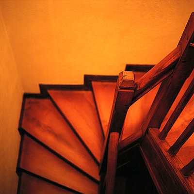 red stairs - p5672736 by Grégory Valton