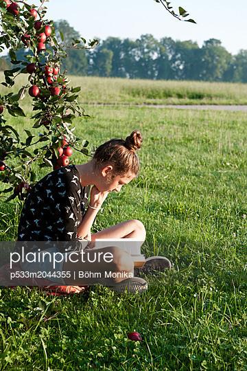 Leseplatz unter dem Apfelbaum - p533m2044355 von Böhm Monika