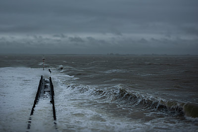 Storm over the sea - p1132m2168066 by Mischa Keijser