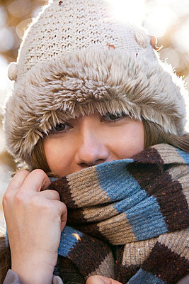 Girl with woolen hat - p7700046 by mbphoto